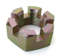 Axle nut non flanged.