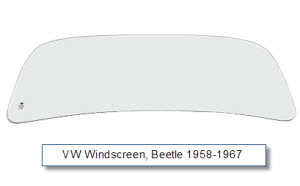 Front Windscreen T1 Beetle 1959 to 1967